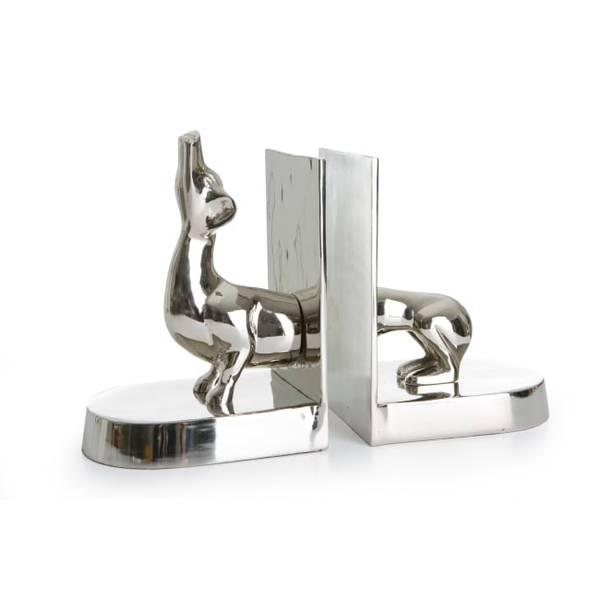 Bilde av Bokstøtte aluminium - hund