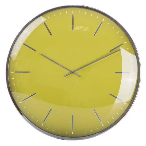 Bilde av Klokke rund m/ farget tallskive i gul