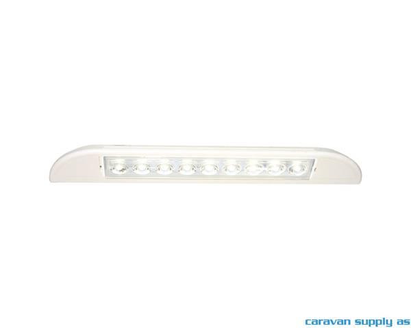 Bilde av Lampe til dør Caletta LED 12V 235x35x40mm hvit