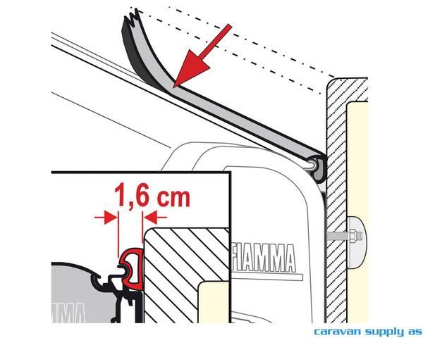 Bilde av Gummilist til Fiamma markise 1,6cm grå