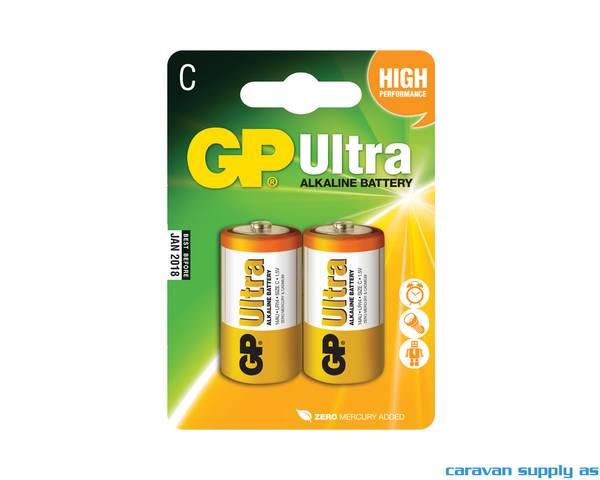 Bilde av Batteri GP Ultra LR14/C alkalisk 1,5V 2stk