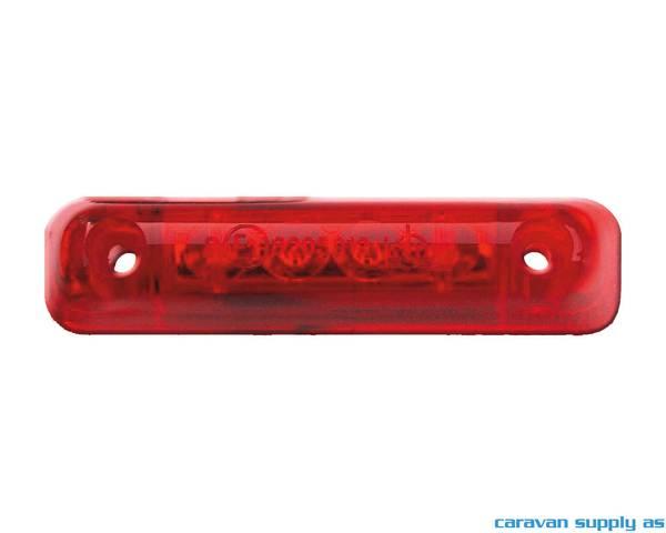 Bilde av Markeringslys Jokon LED 25cm kabel 65x15x16mm rød