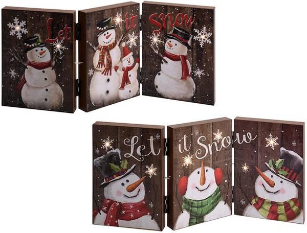 Bilde av Vinterdekorasjon i tre med lys