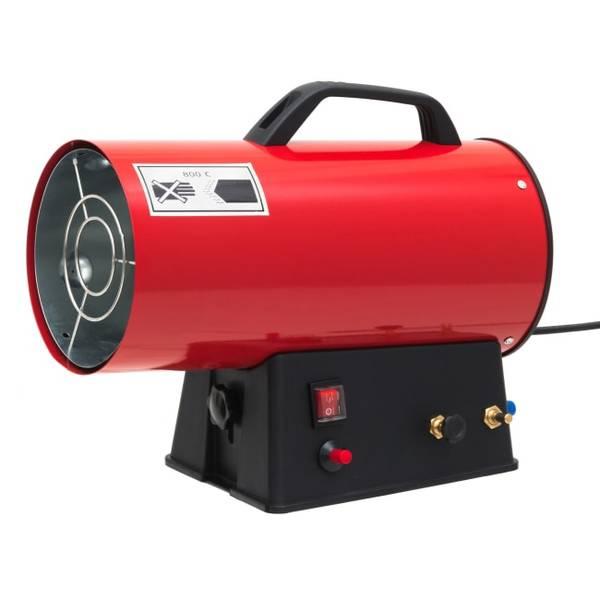 Bilde av Byggtørker gass 10kw rød sort