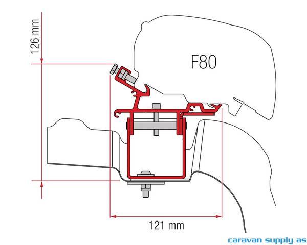 Bilde av Feste F65/F80 VW Crafter H3 > 2017 98655Z043