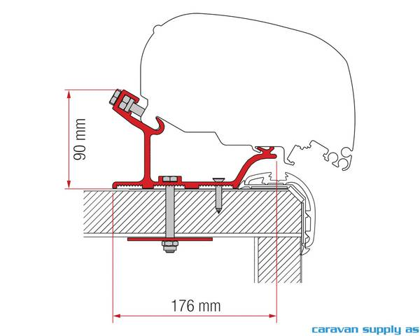 Bilde av Feste F65/F80 Adapter Rapido Distinction 490cm