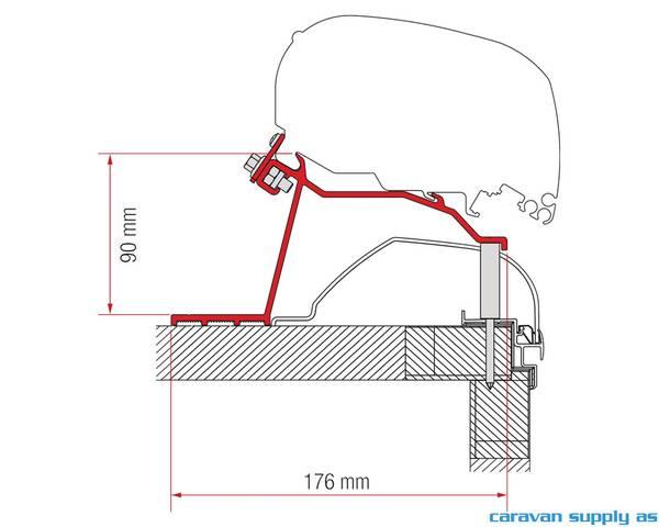 Bilde av Feste F65/F80 Kit Hobby Caravan>14 2x27cm+2x60cm