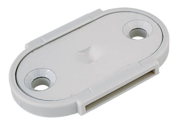 Bilde av Fixxer festeplate stål hvit 39x65mm A2