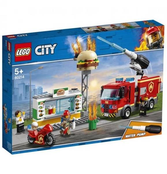 Bilde av LEGO City Fire 60214 Brannslokking på burgerbar