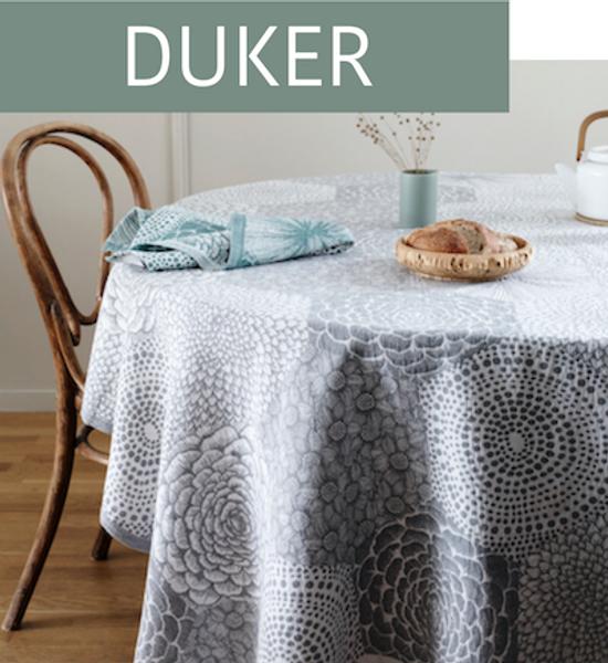 Her finner du duker og bordløpere i bomull og lin som er laget i Finland av det finske merket Lapuan Kankurit.