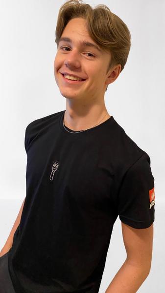 Lommelykt t-skjorte sort