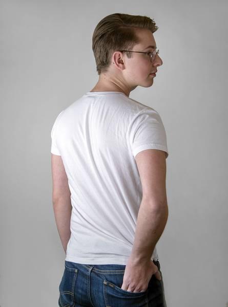 T-skjorte med lommelykt hvit