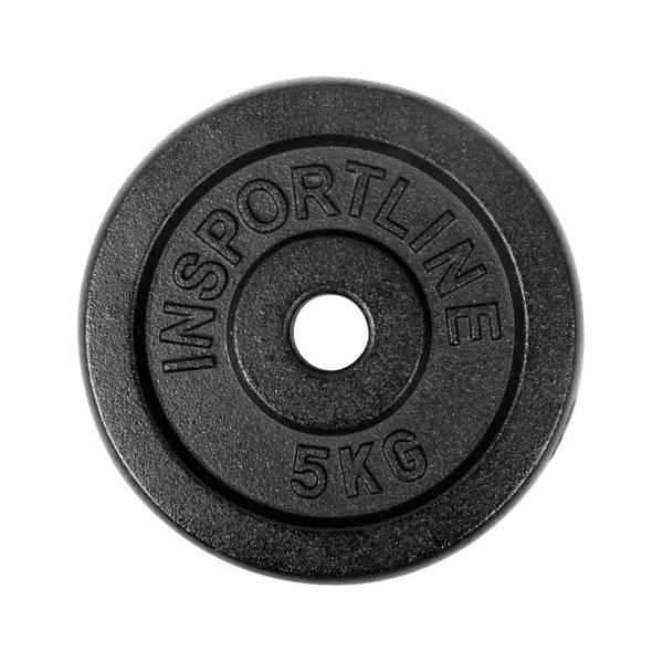 Bilde av Vektplate i stål inSPORTline Blacksteel 5 kg