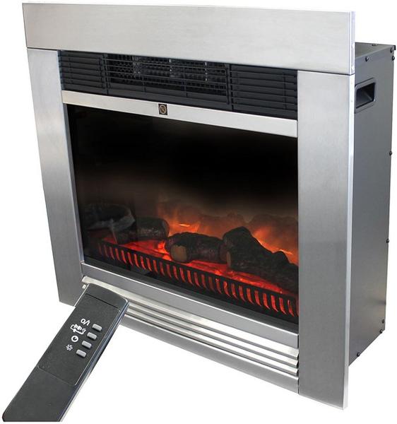 Bilde av Klassisk elektrisk peis med flammeeffekt 1800W -