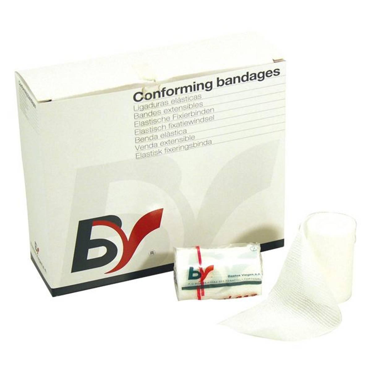 Gasbind elastisk BV 10cm x 4m enkeltpakket