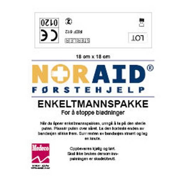 Bilde av Enkeltmannspakke 18x18cm. Stor Noraid
