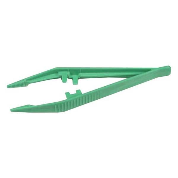 Bilde av Pinsett engangs - grønn plast, 35 stk.