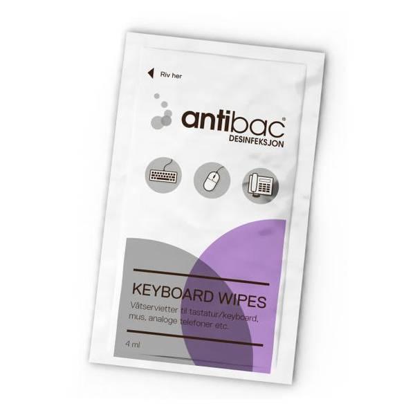 Bilde av Antibac tastatur våtserviett 80 stk