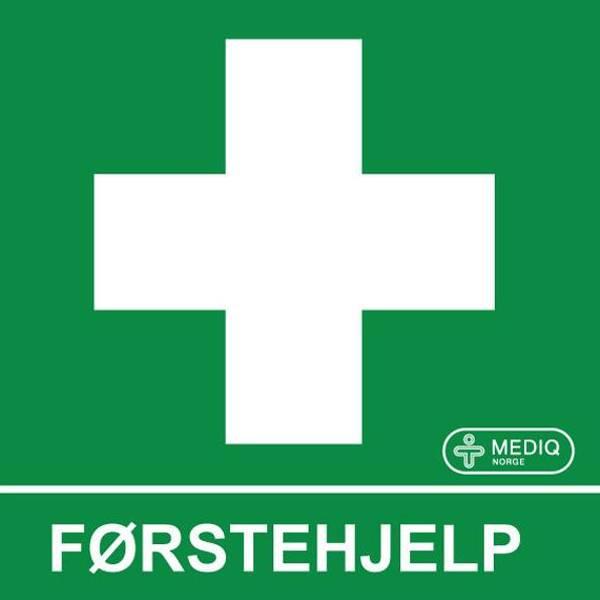 Bilde av Førstehjelp skilt plast etterlysende 15x15cm