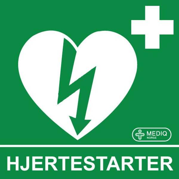 Bilde av Klistremerke Hjertestarter etterlys. vindu mont.