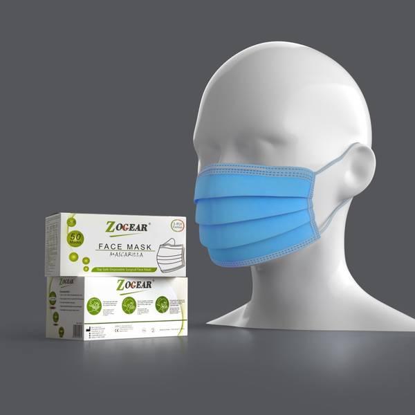 Bilde av Zogear kirurgisk munnbind type IIR m/strikk 50stk