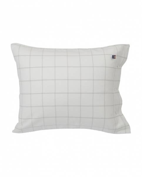 Lexington Hotel Flanell White/Light Grey Pillowcase