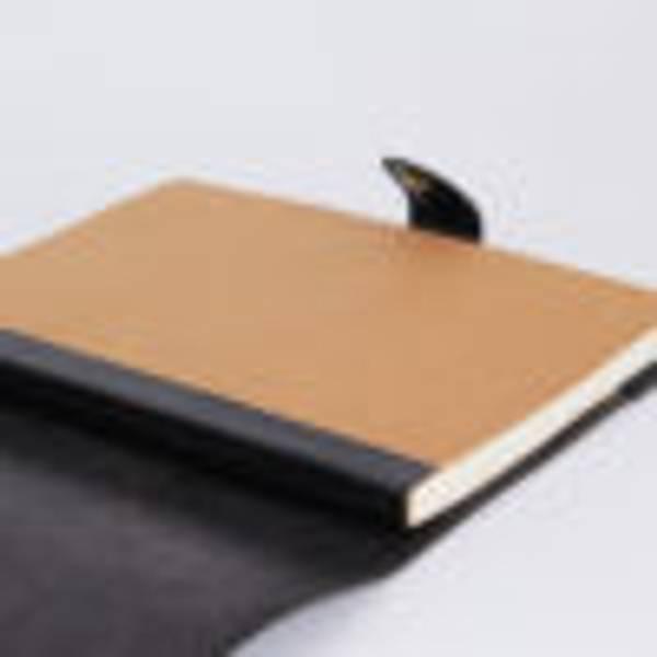 Hyttebok/notatbok A4, ekte skinn