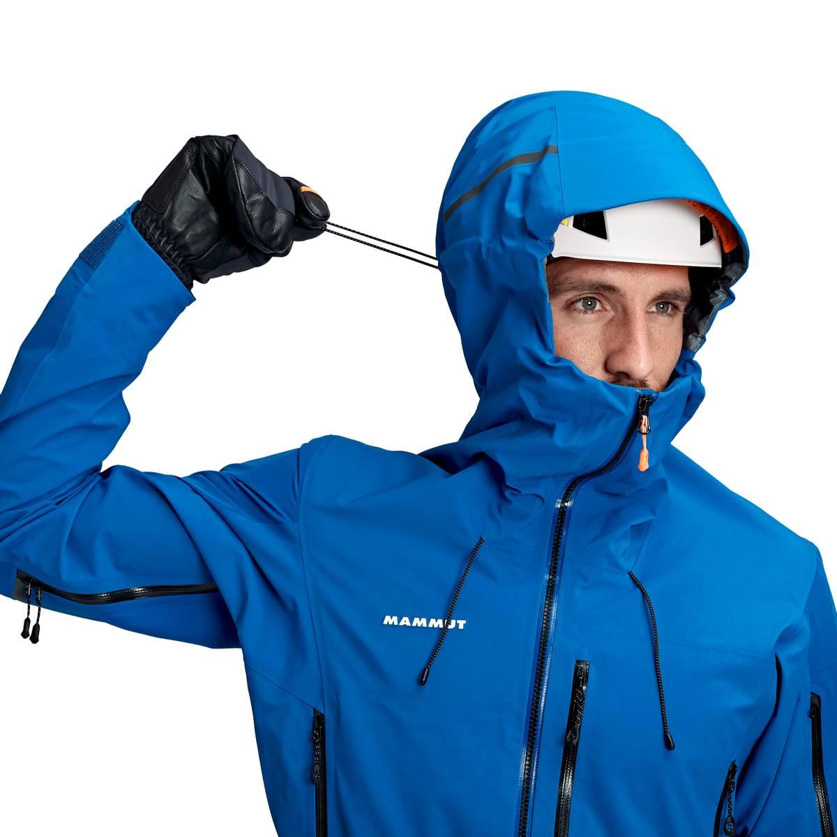 Mammut Nordwand Pro Hooded Hooded Hardshell Jacket Men Azurit