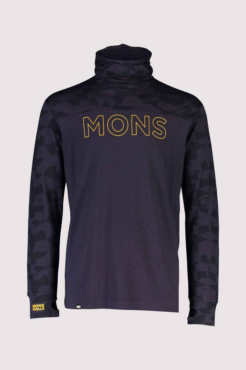 Mons Royale Yotei Powder Hood LS 9 Iron Camo