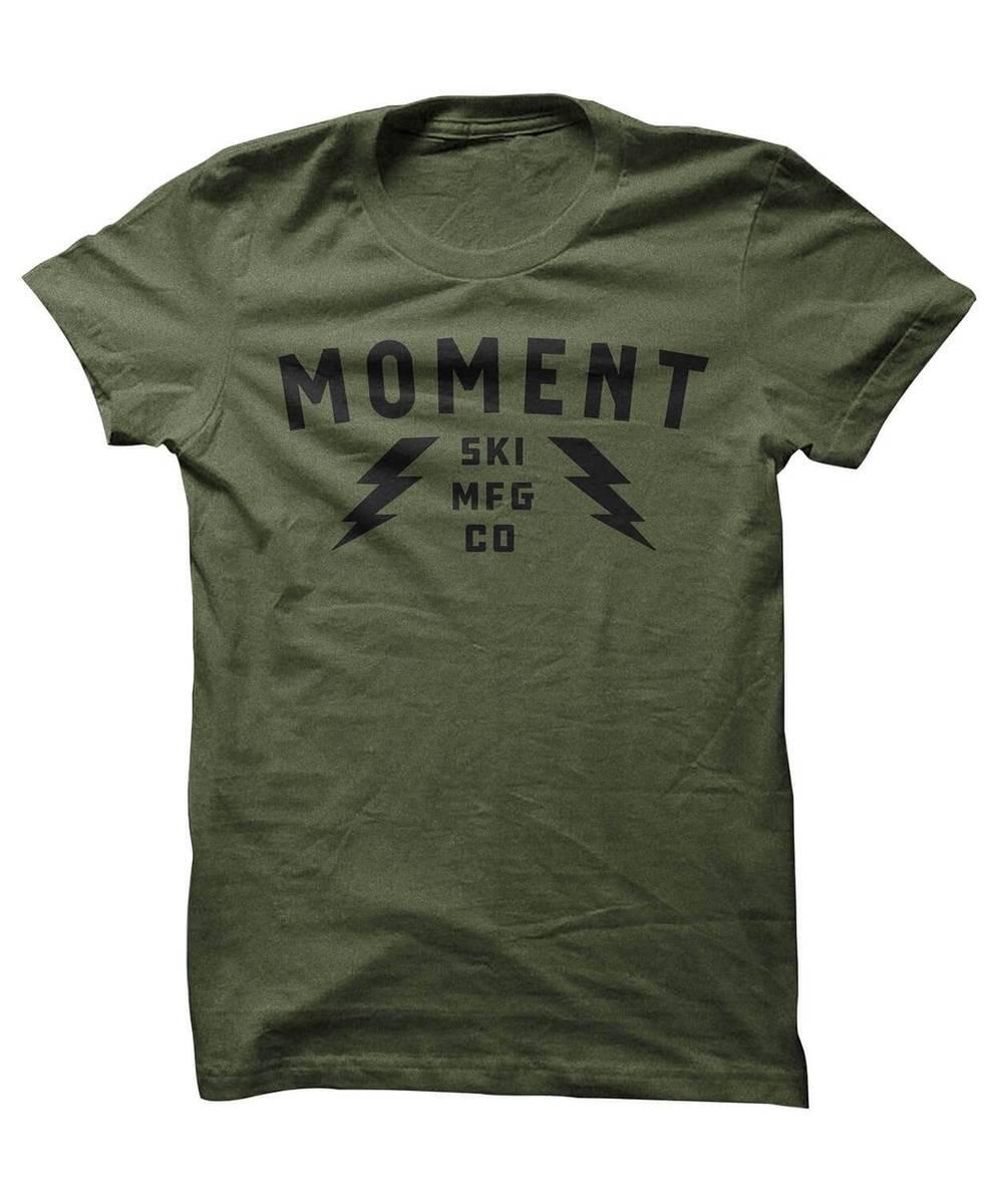 Moment Skis Logo Green T-skjorte