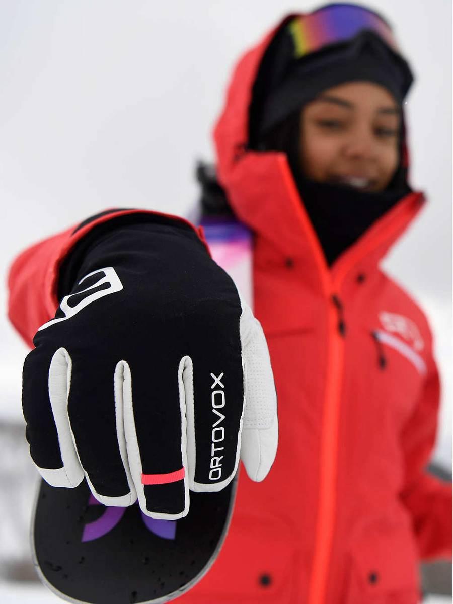 Ortovox Swisswool Freeride Glove W Black Raven