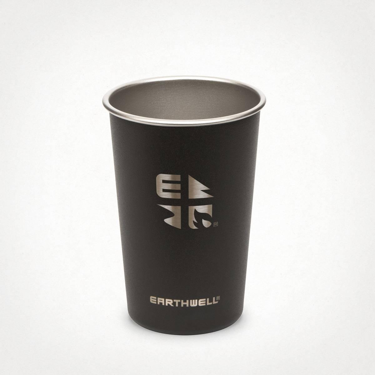Earthwell 16oz Earthwell® Pint Cup Volcanic Black