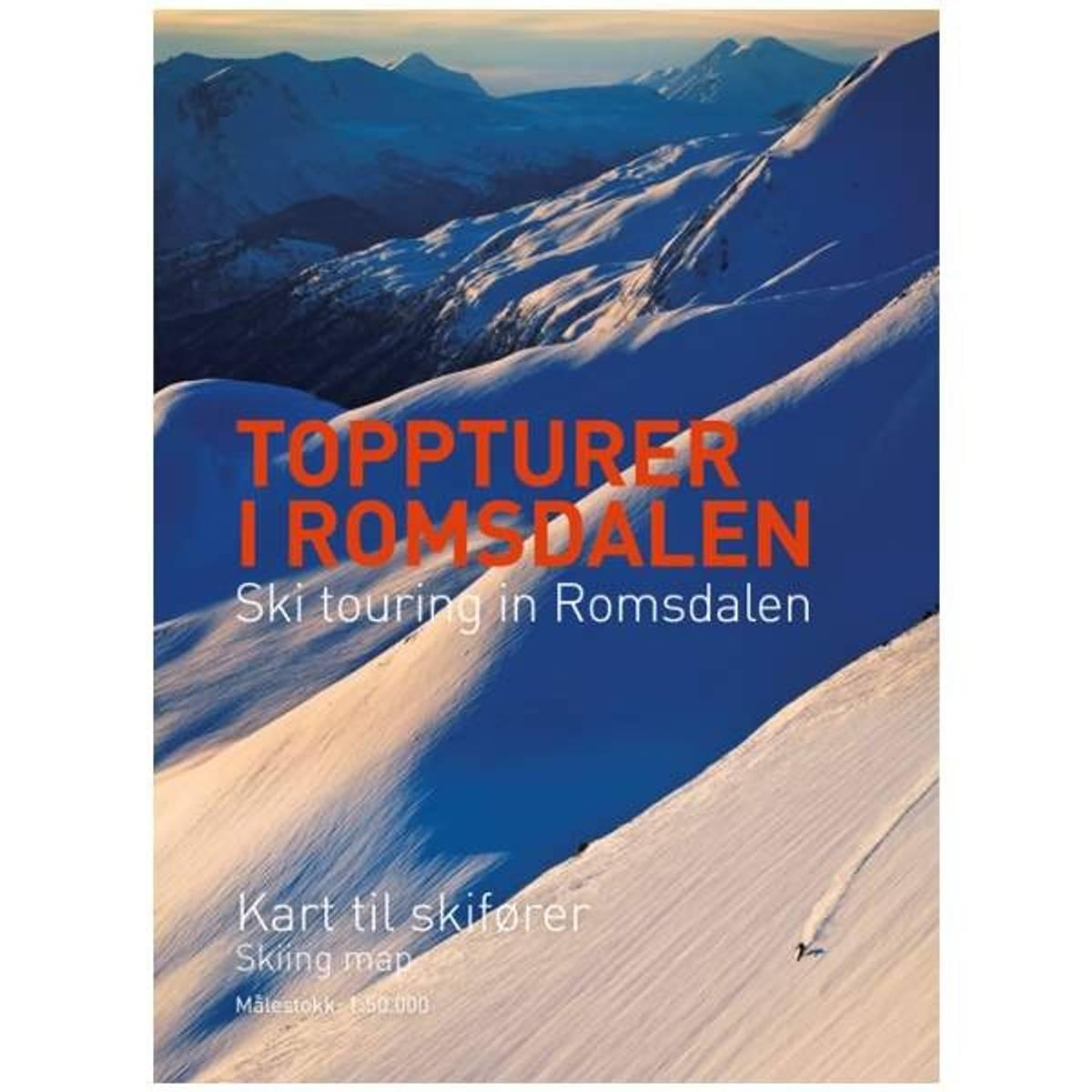 Toppturer i Romsdalen - Kart til skifører 1:50.000