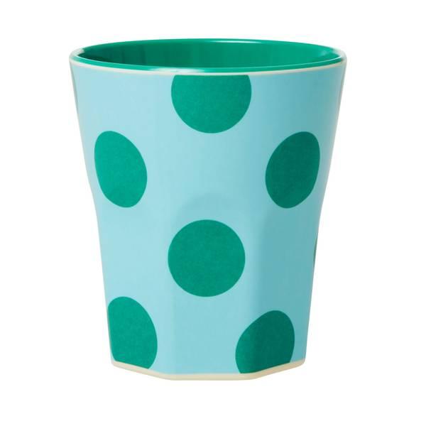 Rice, kopp creme med grønne dots