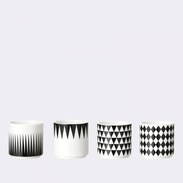 Ferm Living, Geometry Espresso cups Set a 4