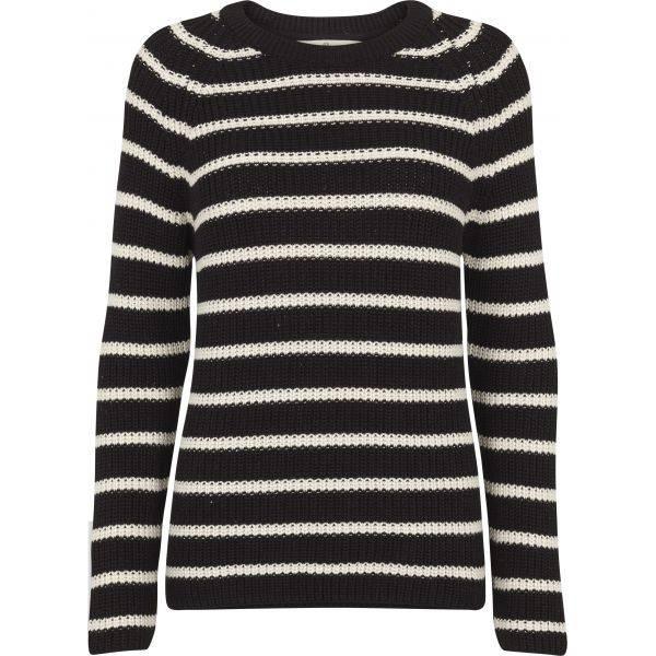 Basic apparel, Sweety stripe sweater black/offwhite