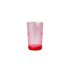 Bilde av Rice, rosa glass med gullkant