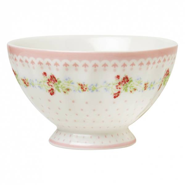 GreenGate, French bowl Sinja white medium