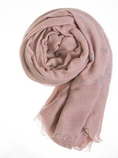 Barfota skjerf , Rhinstones dusty pink