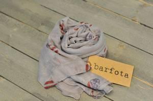 Bilde av Barfota skjerf ,Flag heart,
