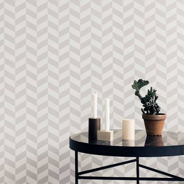 Ferm Living,  Tapet Angie grey