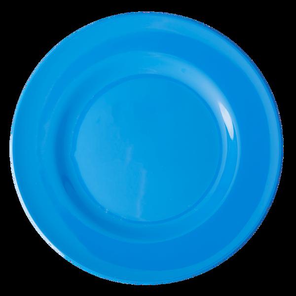 Rice, middagstallerken i melamin, ocean blue