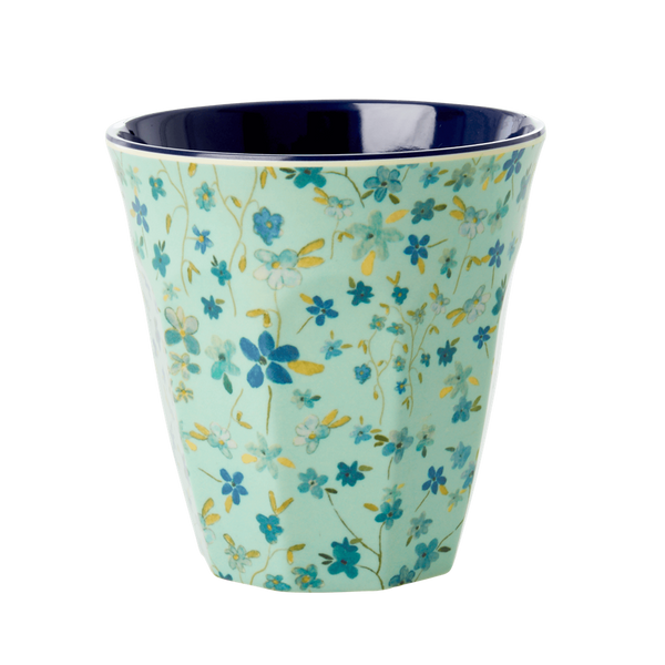Rice, kopp i melamin,blue floral print