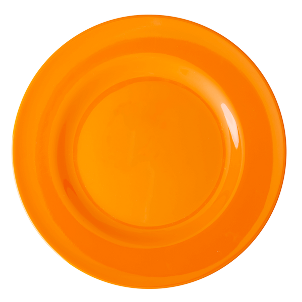 Rice, middagstallerken i melamin, tangerine
