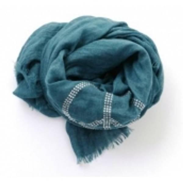 Barfota skjerf , Rhinestones jeansblue