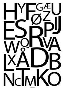 Bilde av Designbyodd, Alfabet sort