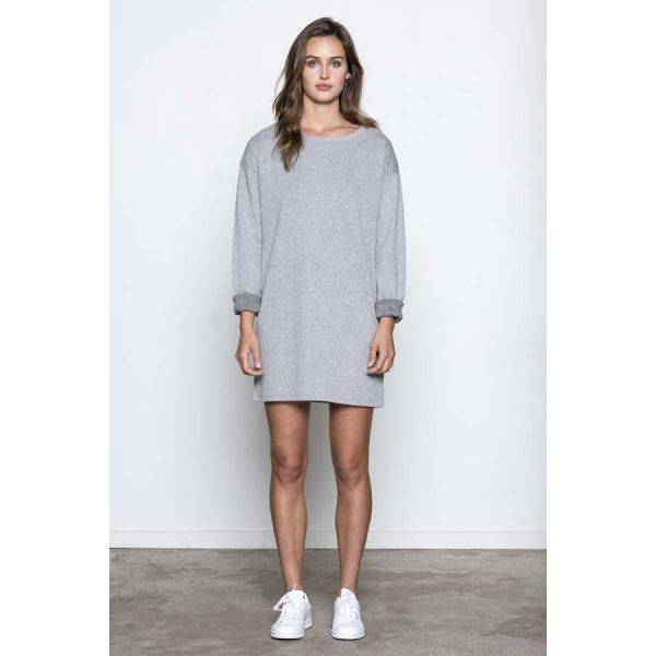 Basic apparel, Less kjole north grey melange