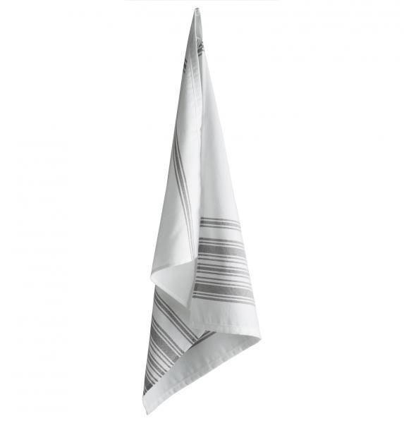 Tine K Home, tørkehåndkle stripe plum