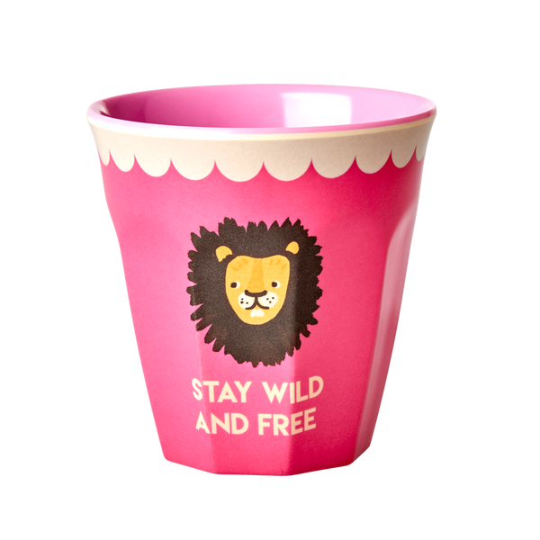 Rice, rosa kopp med løve