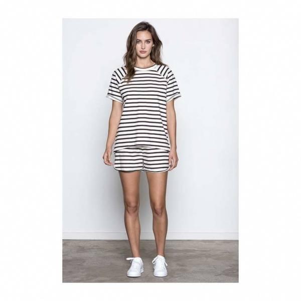 Basic apparel, Silke top offwhite/black